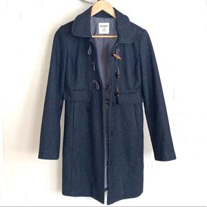 Old Navy coat pea style wool blend toggle small